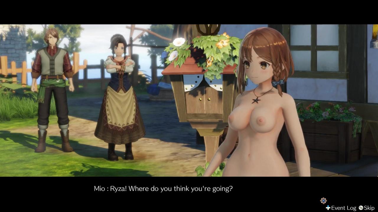 [ライザのアトリエ] ライザの全裸MOD Part2 3DCG 01