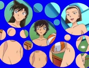 【名探偵コナン】一般動画サイトに蘭姉ちゃんたちの水玉コラ動画が投稿されてしまう…。 (裸コラ・剥ぎコラ)