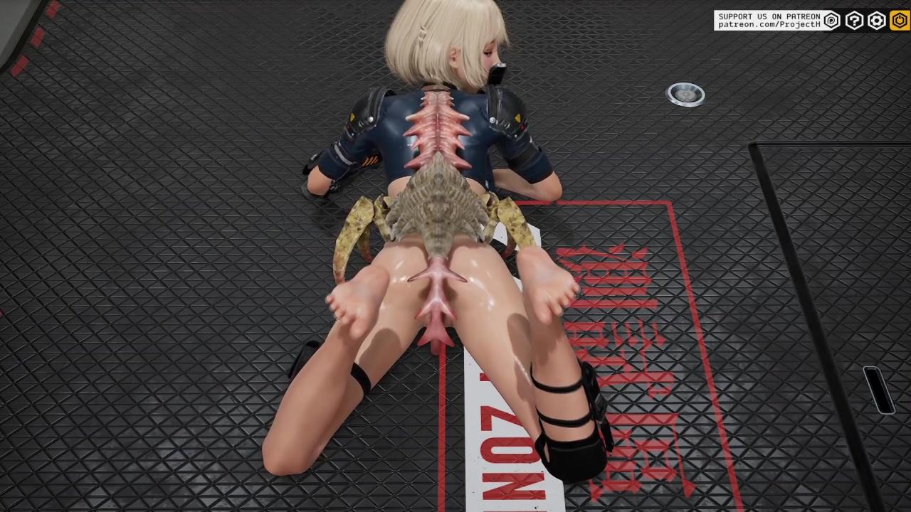 [Fallen Doll: Operation Lovecraft] 昆虫型エイリアンに犯されるアレット 3DCG 04