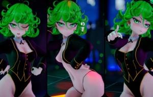 【ワンパンマン】下半身ムチムチなタツマキちゃんのバニーガール脱衣3Dアニメ!