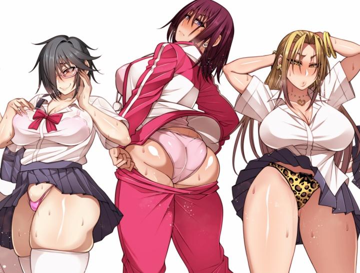 ムッチムチで性的過ぎるドスケベボディの女の子たちにおパンツ見せてもらいました♪(全員セフレな模様)