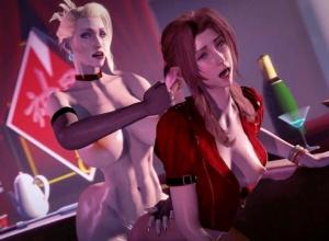 【FF7R】エアリスとジェシーが敵キャラのふたなりチ〇ポで犯される3Dアニメ