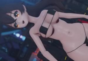 【原神】お尻がえっちなアンバーの脱衣3Dアニメ(Genshin Impact)