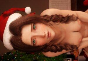 【性の6時間】エアリスがクリスマスの性夜にサンタコスでセックスする3Dアニメ(FF7R)