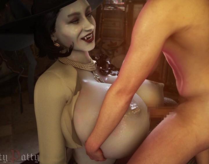 【バイオハザード ヴィレッジ】バイオ8のボス、爆乳長身ヴァンパイアおばさんと体格差SEX!(バイオハザード 8)