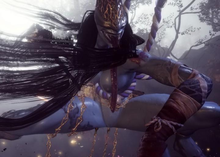 【仁王2】ヌードMODで仁王2の敵キャラ妖怪女を全裸にしたらすごいエッチだったんだが・・・。