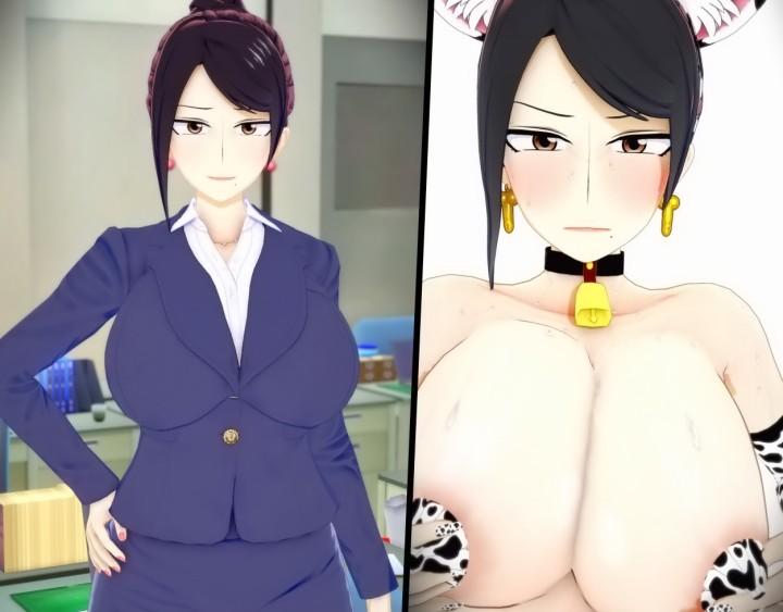 【美人女上司滝沢さん】クールビューティーな巨乳女上司さん、エロ3DCGで寝取られるwww