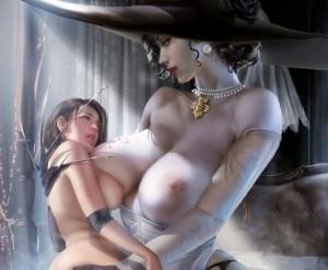 【バイオハザード ヴィレッジ】ドミトレスク夫人と吸血鬼の娘のエロ画像まとめ Part2(バイオハザード 8)